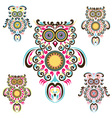 Pattern owls vector image vector image