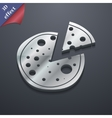 Pizza icon symbol 3D style Trendy modern design vector image vector image