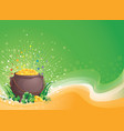 pot of gold for saint patrick day vector image vector image