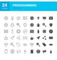 programming line web glyph icons vector image vector image