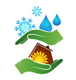protecting house from rain and snow vector image