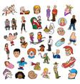 random people collection vector image vector image