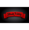 Realistic red ribbon for Black Friday Sale vector image