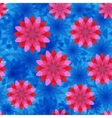 red and blue flower seamless pattern vector image vector image