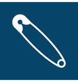 Safety pin symbol vector image vector image