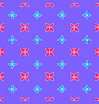 seamless pattern on the violet background vector image vector image
