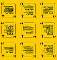 Set of motivational quotes about action fear vector image vector image