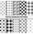 Set of textile seamless patterns vector image vector image