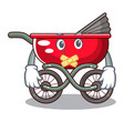silent modern baby stroller isolated against vector image