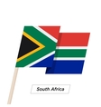 South Africa Ribbon Waving Flag Isolated on White vector image vector image