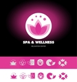 Spa wellness lotus flower logo icon vector image vector image