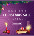 special offer christmas sale up to 50 off square vector image
