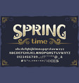 spring - vintage typeface with base vector image vector image