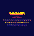 super sale original isometric bold font alphabet vector image