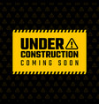 under construction design website development vector image