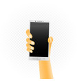 white smartphone in hand vector image