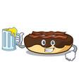 with juice maple bacon bar mascot cartoon vector image