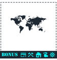 world map icon flat vector image