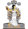 Greek woman with amphoras vector image
