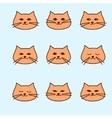 emotions of cute cartoon cat vector image