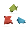 Folded paper placeholders vector image