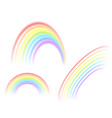 a selection of rainbow vector image