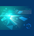 abstract background with polygon explosion in vector image vector image