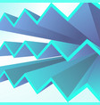 abstract geometric background with blue triangle vector image vector image