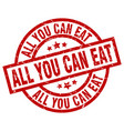 all you can eat round red grunge stamp vector image vector image