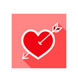 arrow heart icon love sign vector image