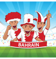 bahrain football support vector image vector image