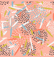 beautiful abstract pattern with dots and lines vector image vector image