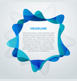 blue abstract business cover design template vector image vector image