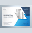 blue geometric business brochure presentation vector image vector image