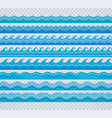 blue transparent wave patterns vector image vector image