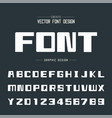 bold font and alphabet square typeface letter vector image