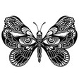 butterfly wings with human eyes vector image vector image