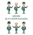 cartoon gentleman set vector image