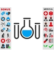 Chemical Vessels Icon vector image