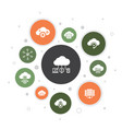 cloud computing infographic 10 steps bubble design vector image vector image