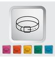 Collar icon vector image