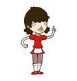 comic cartoon maid vector image vector image