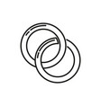 couple rings thin line icon design vector image vector image