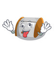 crazy container food bread bin isolated on mascot vector image vector image