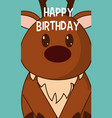 deer cute birthday card vector image vector image