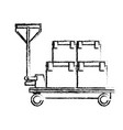 delivery cart boxes cargo logistic icon vector image vector image