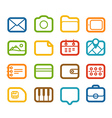 Different Web color icons set vector image
