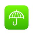 drawing umbrella icon green vector image