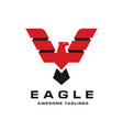 Eagle with creative wings logo template