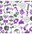 election simple icons seamless color pattern eps10 vector image vector image